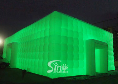 20x11m large cube inflatable wedding party tent with LED lights N movable doors from Sino inflatables