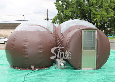 4m Dome Clear Top Resort Glamping Bubble Hotel With Steel Frame Tunnel N Aluminium Door From Inflatable Factory