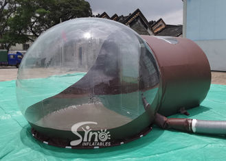 3m Dome Clear Inflatable Bubble Tent With Steel Frame Tunnel And Aluminium Door For Beach Hotel Use